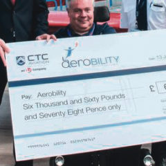 CTC Aviation staff raise over £6,000 for Aerobility