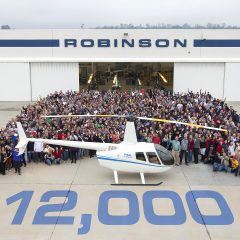 Robinson sell 12,000th helicopter