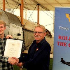 Benjamin Pilgrim awarded Vintage Aircraft Club 'Liz Inwood taildragger scholarship'