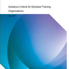 CAA publishes Declared Training Organisation (DTO) Guidance