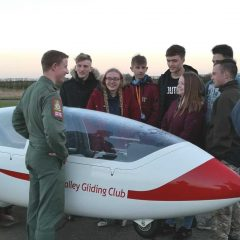 Red Arrows fly in to Support Gliding Club's Education Partnership